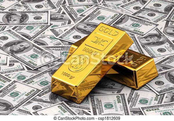 现金, 金子 - csp1812609