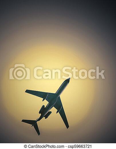 班機, 熱, 天空, 無云 - csp59663721