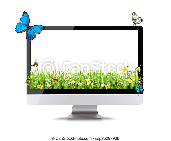 現代, コンピュータ, ディスプレイ - csp25297906