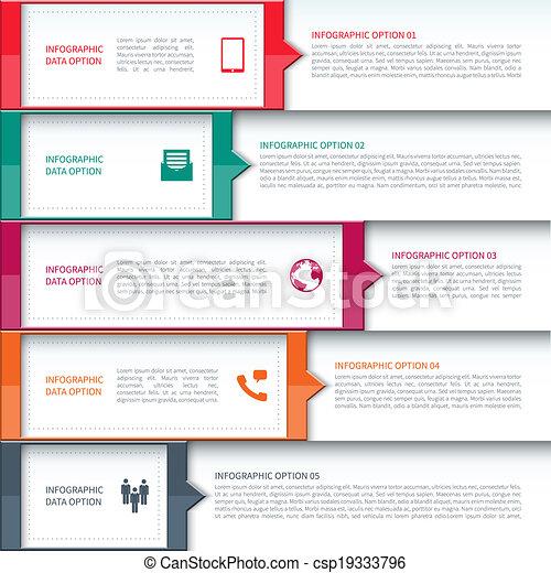 現代 ビジネス, テンプレート, infographics - csp19333796