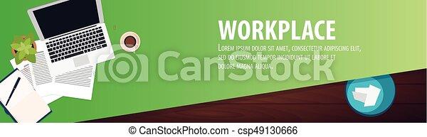 現代, 中心, 大学, オフィス, workplace., 仕事場, co-working, キャンパス - csp49130666