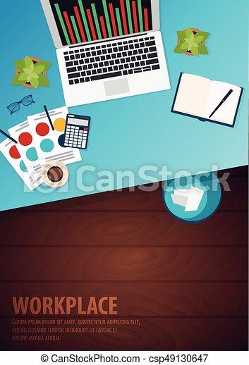 現代, 中心, 大学, オフィス, workplace., 仕事場, co-working, キャンパス - csp49130647