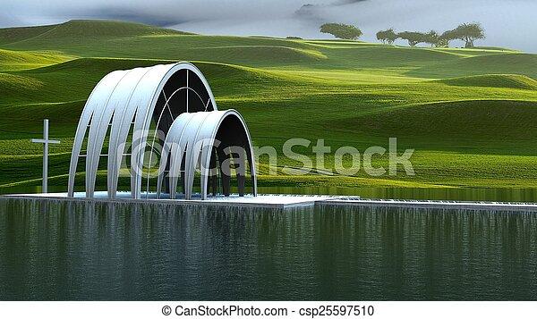 現代, 教堂 - csp25597510