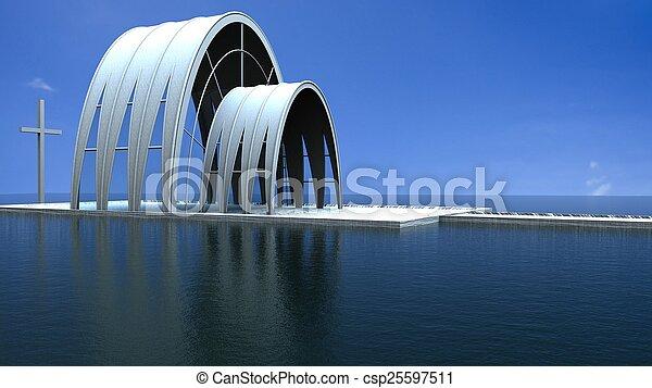 現代, 教堂 - csp25597511