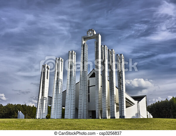 現代, 教堂 - csp3256837