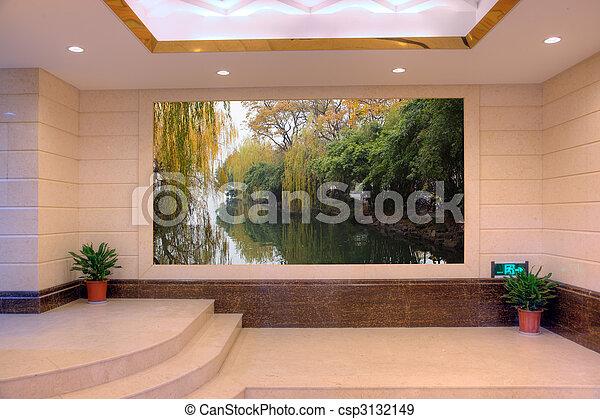 現代, 景色, 空, ホール - csp3132149
