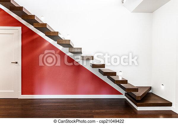 現代, 樓梯, 照明 - csp21049422
