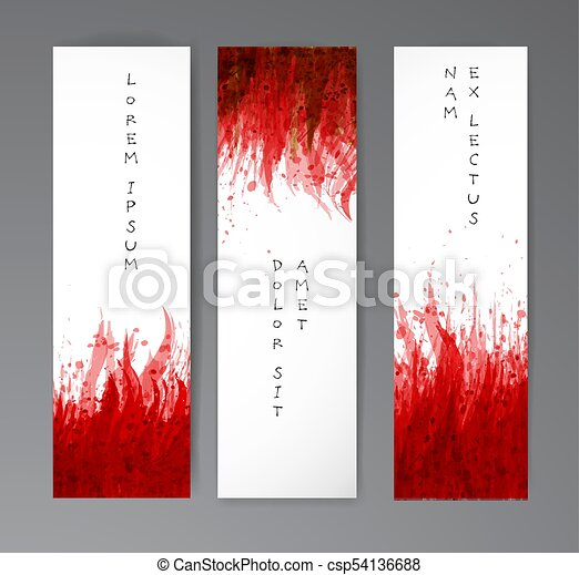 現実的, バックグラウンド。, ペーパー, 血, 旗, 赤, はねる - csp54136688