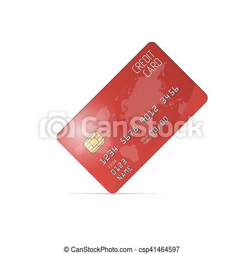 現実的, ベクトル, カード, クレジット - csp41464597