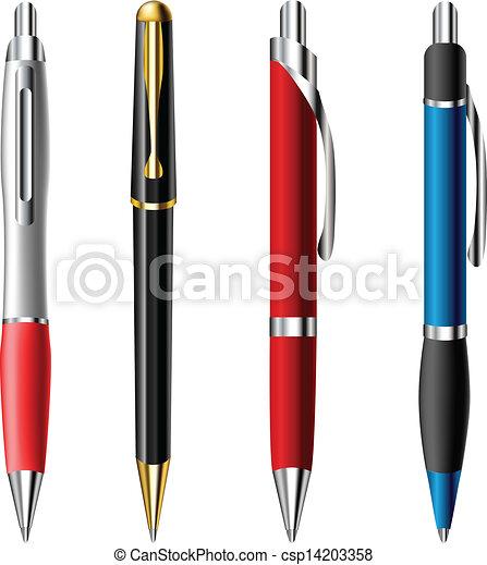 現実的, ボールペン, セット, ペン - csp14203358