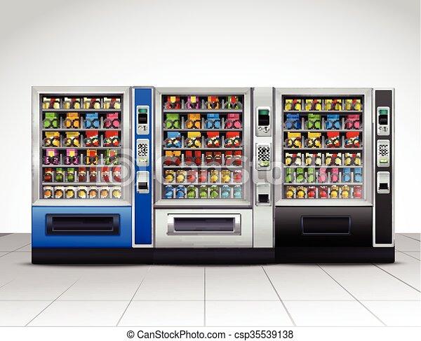 現実的, 光景, 前部, 機械, 販売 - csp35539138