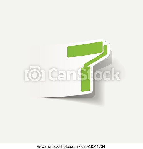 現実的, element:, デザイン, ローラー, ペンキ - csp23541734