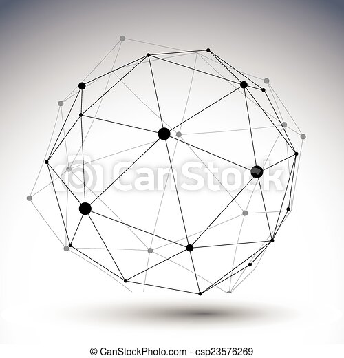球形, 二, 顏色, 摘要, 插圖, 單個, 矢量, 排列, 3d - csp23576269