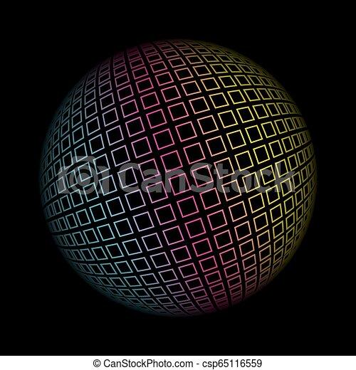 球形, 有色人種, pattern., イラスト, ベクトル, 背景, 幾何学的, 3d - csp65116559