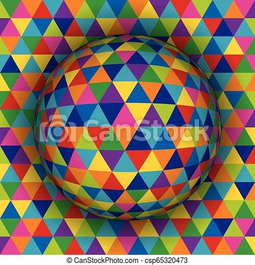 球形, 有色人種, pattern., イラスト, ベクトル, 背景, 幾何学的, 3d - csp65320473