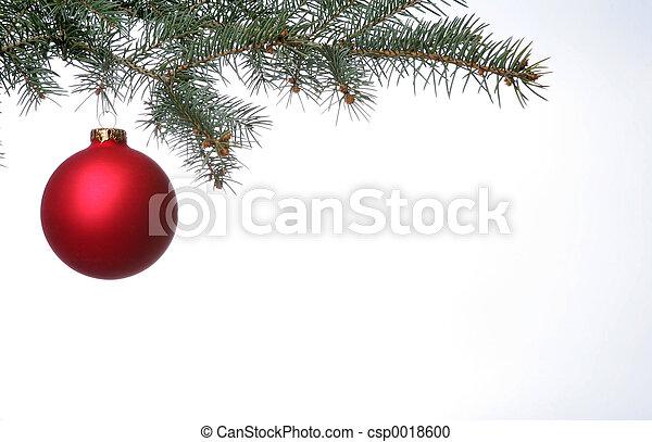 球, 圣诞节, 红 - csp0018600