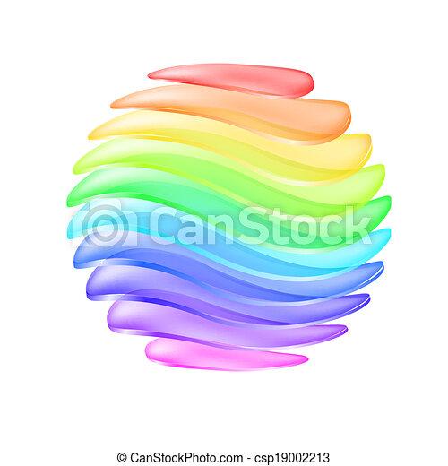 球, 抽象的, カラフルである - csp19002213