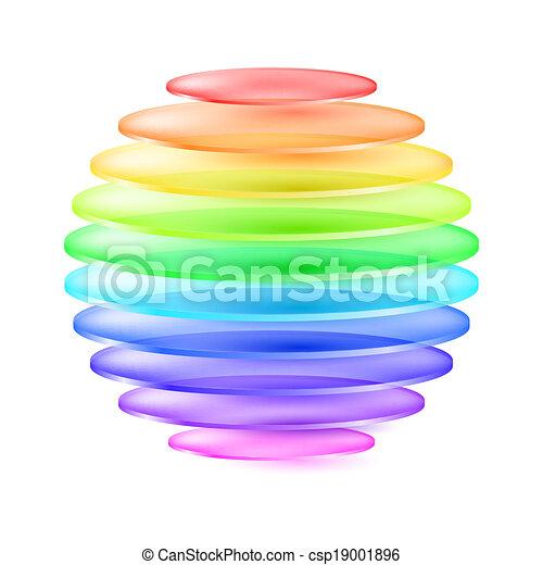 球, 抽象的, カラフルである - csp19001896