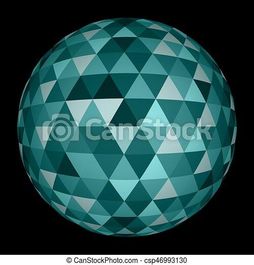 球, 抽象的, 三角形, 3d - csp46993130