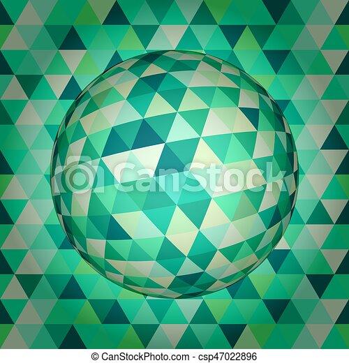 球, 抽象的, 3d - csp47022896