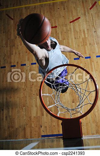 球 球員, 游戲, 籃子, 運動, 大廳 - csp2241393
