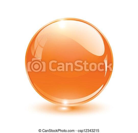 球, 3d, 水晶 - csp12343215