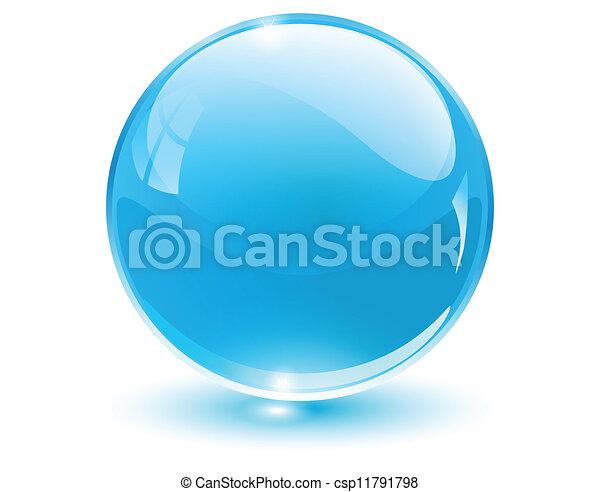 球, 3d, 水晶 - csp11791798
