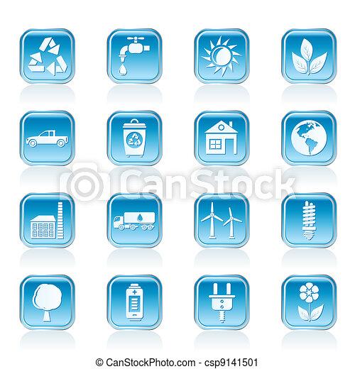 環境, エコロジー, アイコン - csp9141501