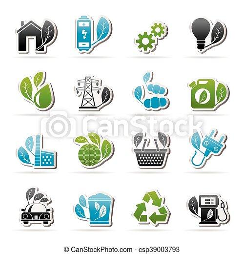 環境, エコロジー, アイコン - csp39003793