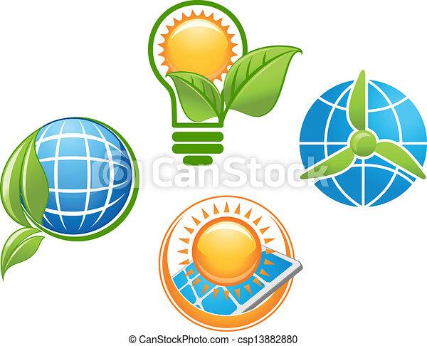 環境, エコロジー, アイコン - csp13882880