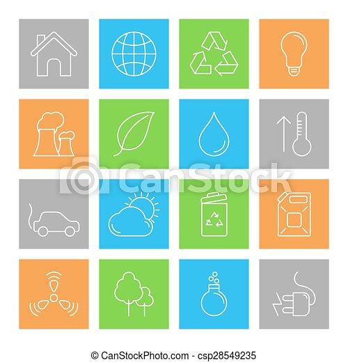 環境, エコロジー, アイコン - csp28549235