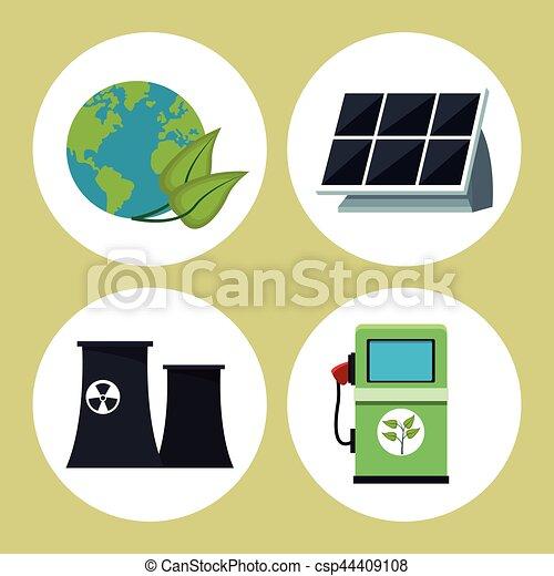 環境, エネルギー, コレクション, きれいにしなさい - csp44409108