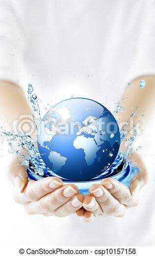 環境, 全球, 概念, hands., conservation. - csp10157158