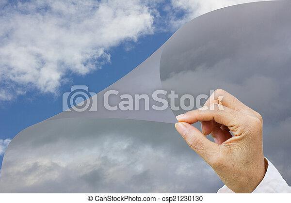 環境, 概念, 気候, 手, よりよい, 人間, 変化する, 作り - csp21230130