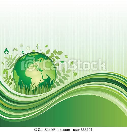 環境, 緑の背景 - csp4883121