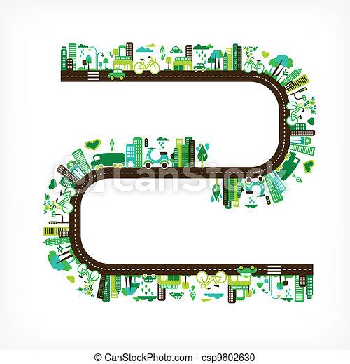 環境, 都市, エコロジー, -, 緑 - csp9802630