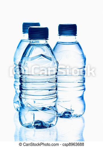 瓶子, 矿物, 春天水, 净化, 反映 - csp8963688