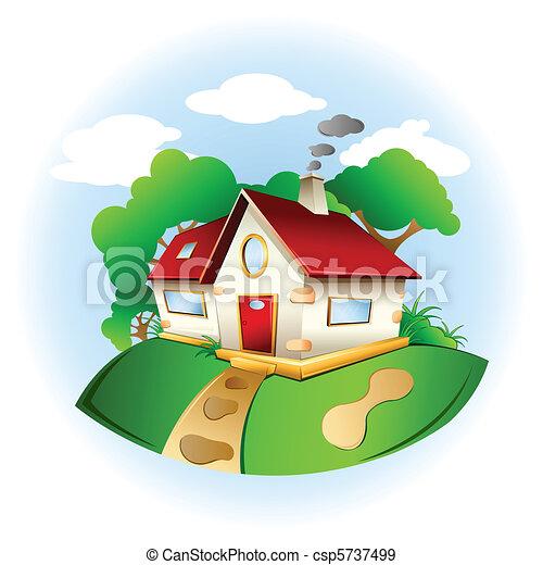 甘い, 家 - csp5737499