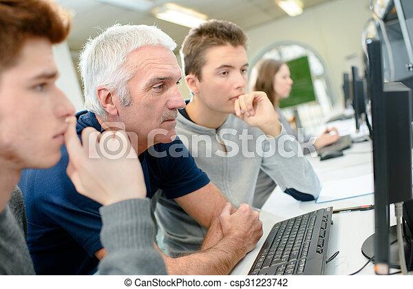 生徒, コンピュータクラス - csp31223742