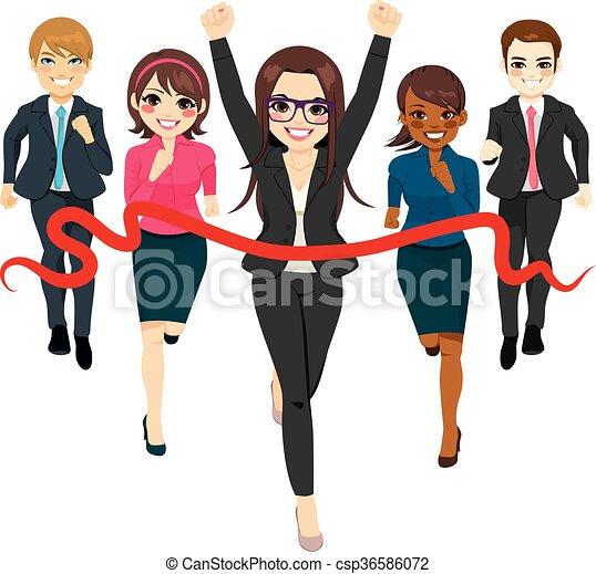 生意概念, 組, 成功, 比賽 - csp36586072