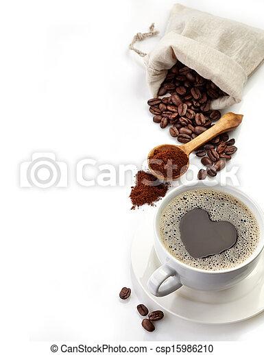 生活, まだ, コーヒー - csp15986210