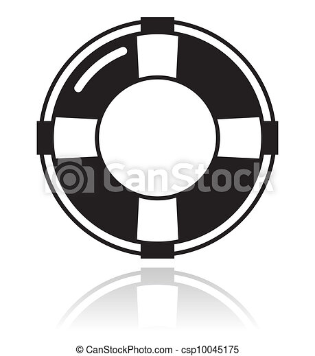 生活, 助け, -, 黒い ベルト, アイコン - csp10045175