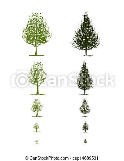 生長, 設計, 階段, 樹, 你 - csp14689531