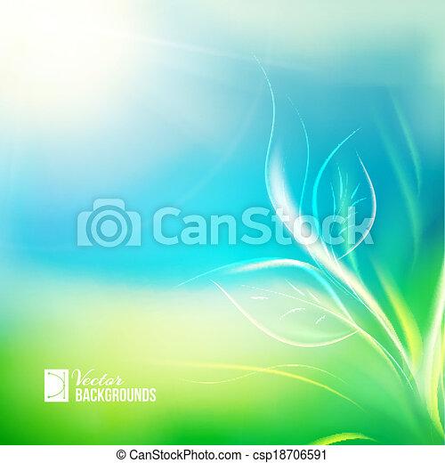 生長, 陽光, 秧苗 - csp18706591