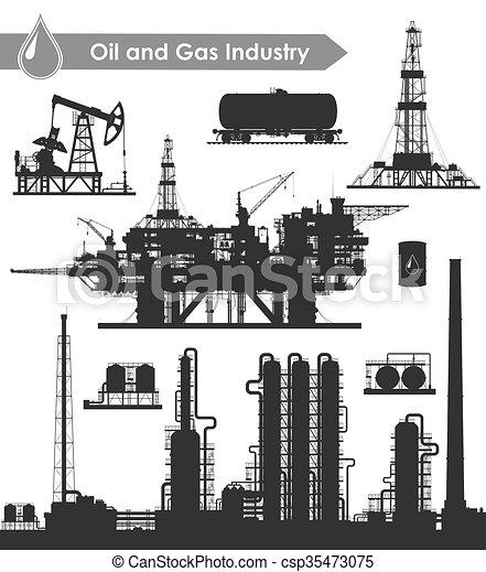 産業, オイル, セット - csp35473075