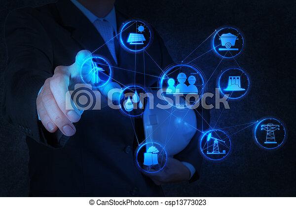 産業, 事実上, 図, コンピュータは働く, エンジニア - csp13773023