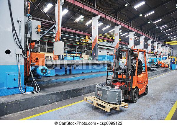 産業, 労働者, 工場, 人々 - csp6099122