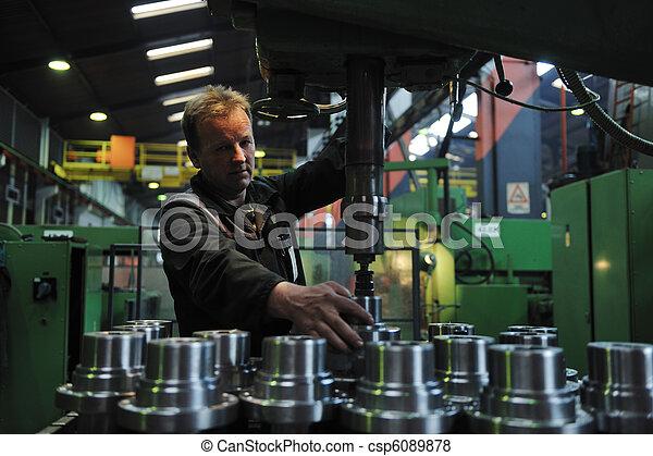 産業, 労働者, 工場, 人々 - csp6089878