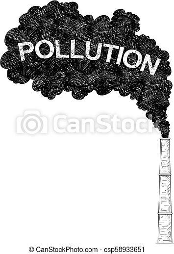 産業 工場 イラスト 空気 ベクトル 煙突 芸術的 図画 あるいは