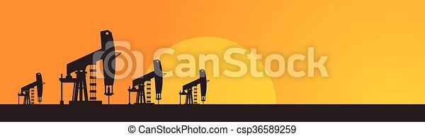 用具一式, クレーン, pumpjack, オイル プラットホーム - csp36589259